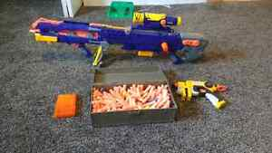 Nerf longshot and pistol with ammo