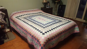 Hand-quilted quilt