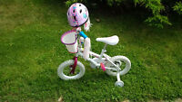 """Great first bicycle & helmet - 12"""" wheels with Training wheels"""