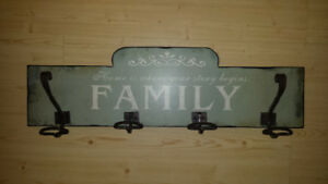 Very nice family shaggy and sheak coat rack