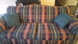 Couch, love seat, and large chair