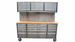 """NEW THOR SS 72"""" Toolbox (Cabinet&Pegboard)@ Shackelton Auctions"""