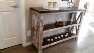 New Rustic Handmade Buffet table/Tv stand $495.