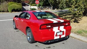 2012 Dodge Charger Red with white Racing stripe