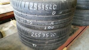 Pair of 2 Pirelli PZero 255/35R20 tires (50% tread life)