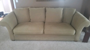 Taupe colored Bauhaus Sofa and Loveseat