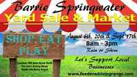 BARRIE SPRINGWATER YARD SALE AND MARKET