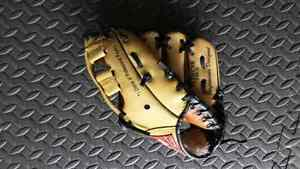 Youth left handed ball glove