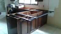 Steel supports for heavy counter tops