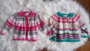 Baby girl sweaters - brand name!