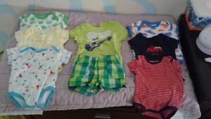 lot de vêtements garçon 0 a 6 mois