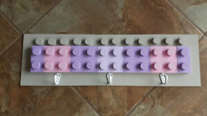 Lego Block Childrens Coat Hooks