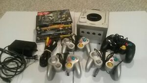 Nintendo GameCube with 6 games and 4 controllers + more