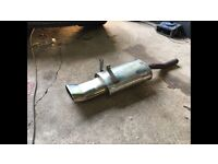 Stainless steel exhaust back box