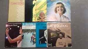 Lot de 8 albums LP francophone
