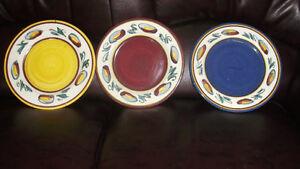 3 BEAUTIFUL MAXWELL POTTERY PLATES