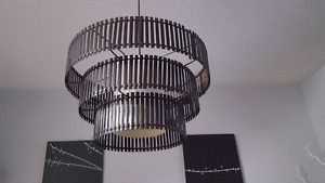 Dark wood chandelier