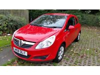 VAUXHALL CORSA 1.0L RED 3DOOR