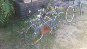 Vintage steel road bike push bike