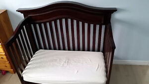 Crib converted to kids bed