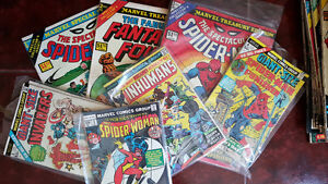 COMIC BOOKS SMALL AND LARGE