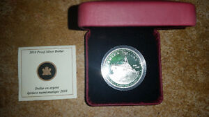 2010 Canada Proof Sterling Silver Dollar - 100th Anniv. Canadian