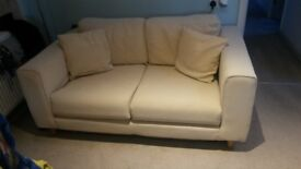 Free cream 2 seater sofa