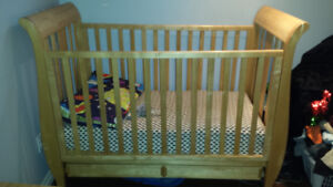 Beautiful solid maple crib