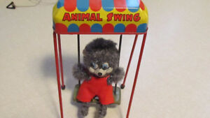 "Vintage MINT  ""ANIMAL SWING"" Tin Toy"