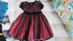 Girl's Pink and Black Party Dress - Size 5T