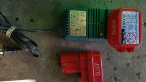 Makita 9.6 volt charger and 2 battery's