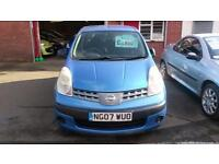 NISSAN NOTE 1.4 S 5 DOOR MET BLUE 85K 3 OWNERS ONLY £15 WEEK P/LOAN 2007 07
