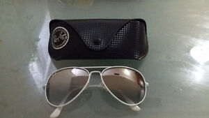 Brand New White Ray Ban Aviator  (Rare)