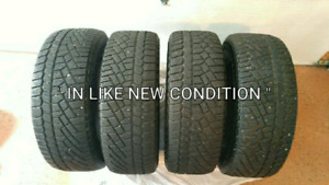 Four  215  60 15  Continenial Winter Tires