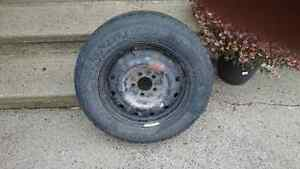 215/65R16 winter tires plus rims x 4