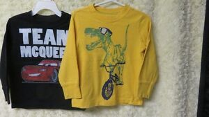 2 Pce Boys Old Navy Long Sleeve Tops Yellow & Black Size 3 Years