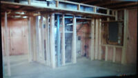 Basement Framing, Drywalling, and Taping Services