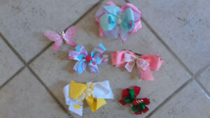 Handmade bows and clips - BEAUTIFUL
