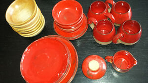 TERRACOTTA DISH SET, HAND MADE IN QUEBEC 1970'S West Island Greater Montréal image 2