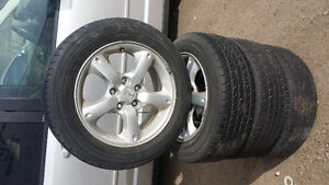 Set used tire with alaminum rims for mazda 3