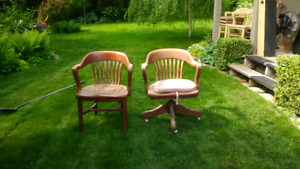 antique cherry office chairs
