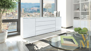 CLEARANCE JOSY FURNITURE Sideboard Madrid in White or Black