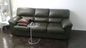 Sectional Natural LeatherSofa/Recl set, Sofa-bed&LoveSeat,