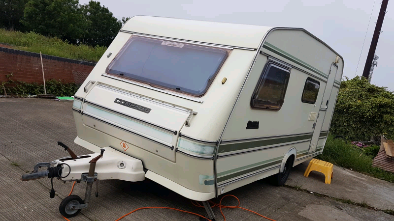 Retro 4 berth caravan with full awning for sale | in ...