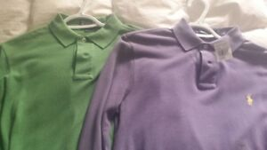 2 mens long sleve Polo golf shirts size small