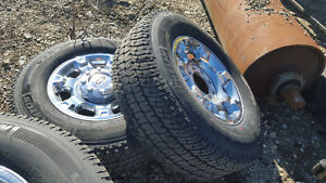 Michellin 75/70R18 5 tires on brand new Superduty Chrome rims