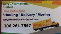 GIL Moving delivery truck rental with driver 306 261 7567