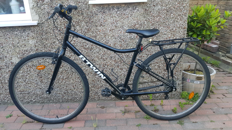Decathlon B'Twin Riverside 100 Hybrid Bike Black | in Croydon, London |  Gumtree