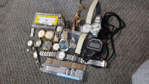Lot of Random Watches and Parts Both New & Old