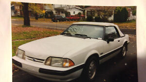 Ford Mustang 5 litre 1989 convertible.